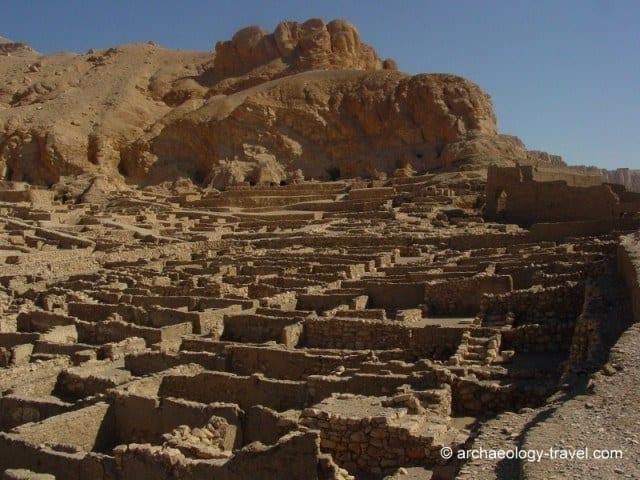 Looking north over the ancient village of Deir el-Medina