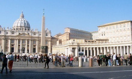 Amidst the Crowds in St Peter's Square, Stands Ancient Egypt