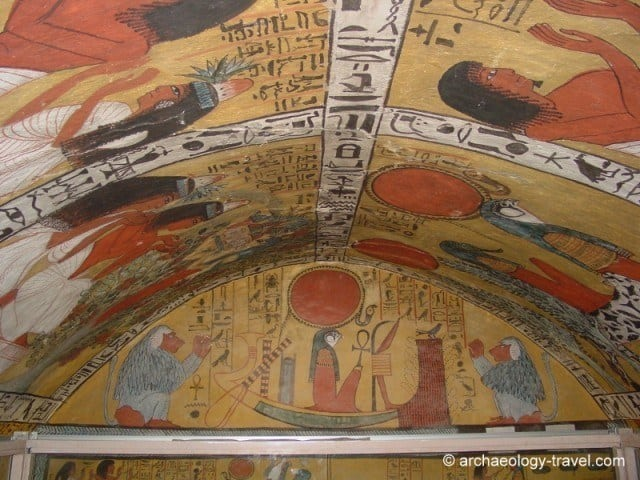Paintings in Sennedjem's tomb