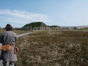 Reconstructed sod house at L'Anse-aux-Meadows