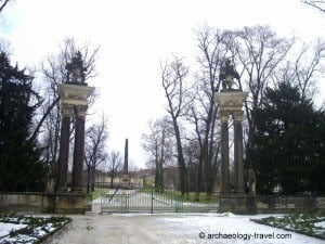 Sanssouci Park an the Egyptian obelisk