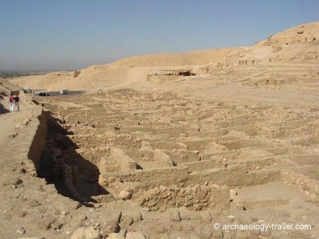 Looking south over the ruined village of Deir el-Medina