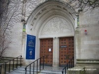 The entrance to the Oriental Institute Museum