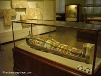 The coffin and mummy of Meresamun.