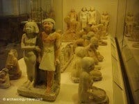 So-called 'Servant statues' in the Egyptian Gallery.