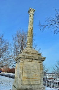 Roman column from Ostia in Rome at Soldier Field in Chicago. © Mina Megalla for Archaeology Travel