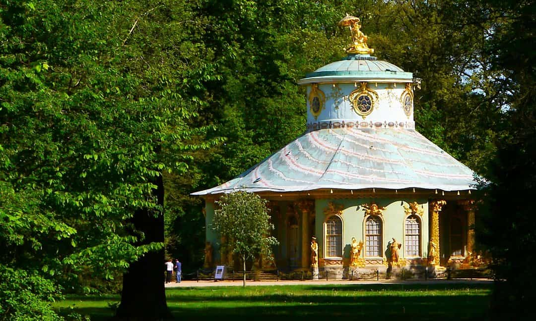 The extraordinary Chinese House in Sanssouci Park.