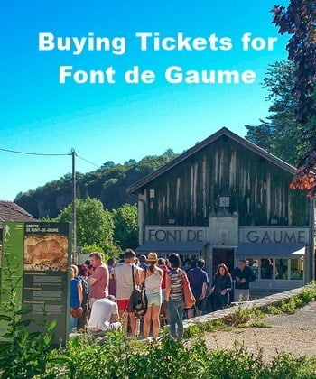 Waiting for the Font de Gaume ticket office to open.