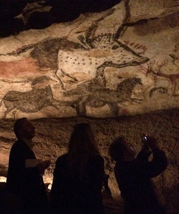 Visiting the replica of Lascaux 4, Montignac in France.