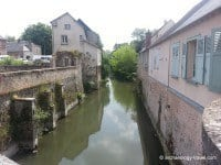 The Eure River running through the town of Chartres.