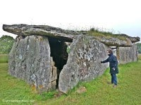 The back of the Madeleine dolmen.