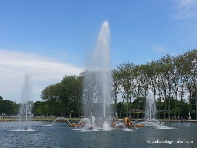 The fountains of Apollo at the Palace of Versailles.