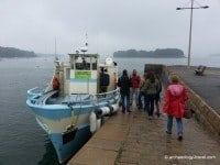 Boarding the ferry for Gavrinis in Lamor-Baden