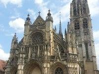 The west portal of the Notre Dame Caudebec-en-Caux