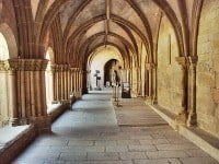 The cloisters of the Cloister Museum in Tulle.