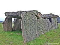 A side view of the Madeleine Dolmen.