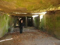 Inside the passage of Bagneux Dolmen.