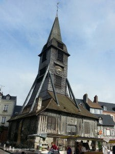 The wooden clocktower in Honfleur, painted by Claude Monet.