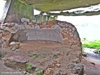 The remains of the bread oven.