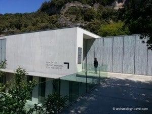 The entrance to the Pôle international de la Préhistoire.