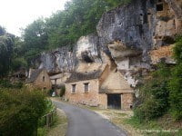 Typical troglodytic dwellings of the area.
