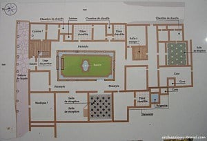Plan of the peristyle house.