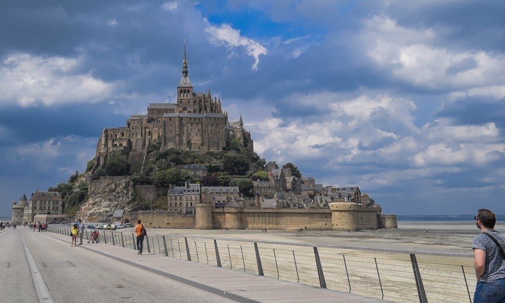 Getting on to Mont Saint Michel is possible on foot and by bus.