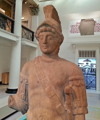 Roman statue of Mars in the Yorkshire Museum, York.