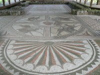 The striking Orpheus mosaic at Littlecote Roman Villa