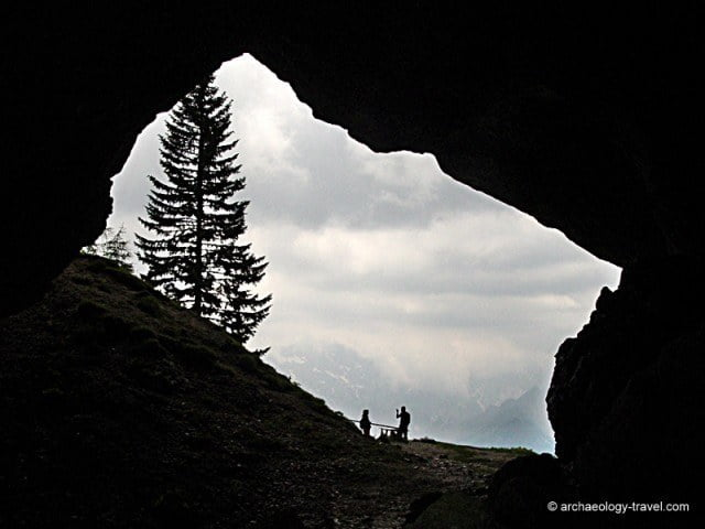 A view from Potok Cave in Slovenia