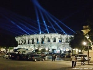 The Roman amphitheatre in Nîmes is still used for music festivals throughout the year.