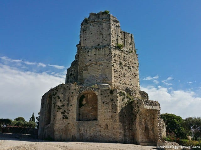 The 3rd century Roman tower in Nîmes.