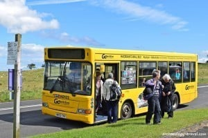 Hadrian's Wall bus runs regularly between Newcastle and Haltwhistle.