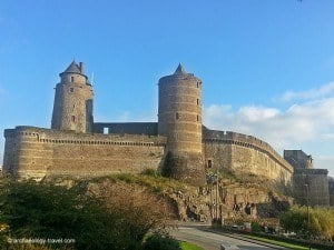 Part of the ramparts and towers of the Medieval Castle in Fougères.
