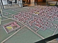 Model showing the layout of the town in the Jublains Museum.