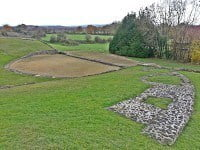 Foundations of the first theatre of Jublains.