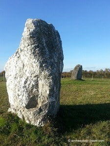 The two standing stones.