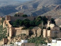 The spectacular Alcazaba of Almería, Spain.