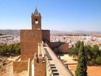 The defensive Alcazaba of Antequira, Spain.