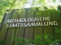 Entrance to the State Archaeological Collection of Bavaria, in Munich.