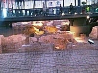 The remains of Barcelona from 1700s under the marketplace.