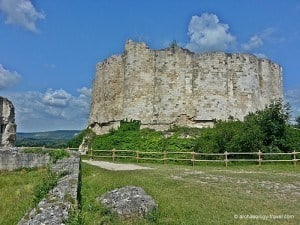 Looking across the outer ward to the inner ward of Château Gaillard.