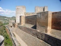 Walls of the Alhambra fortress.