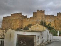 The commanding position of the Alcazaba of Gaudix in Spain.