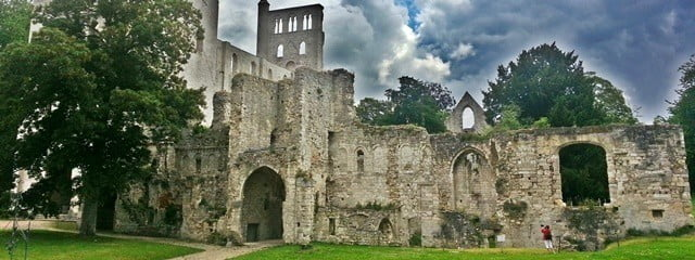 Jumiéges Abbey, one of the finest set of ruins in France.