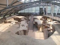 Inside the covered over Roman quarry