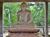 The Samadhi Statue of  Buddha in a postures of seated meditation.
