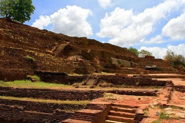 The ruins of the royal palace.