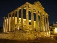 The temple of Diana, Mérida in Spain