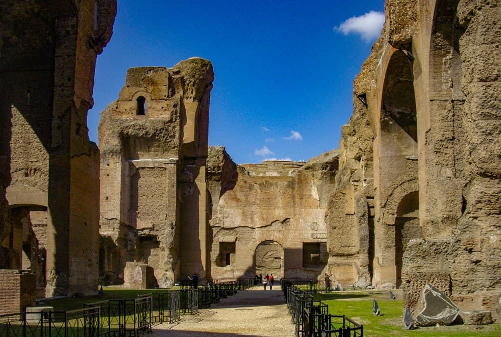 The Imperial bath house of Caracalla, Rome.
